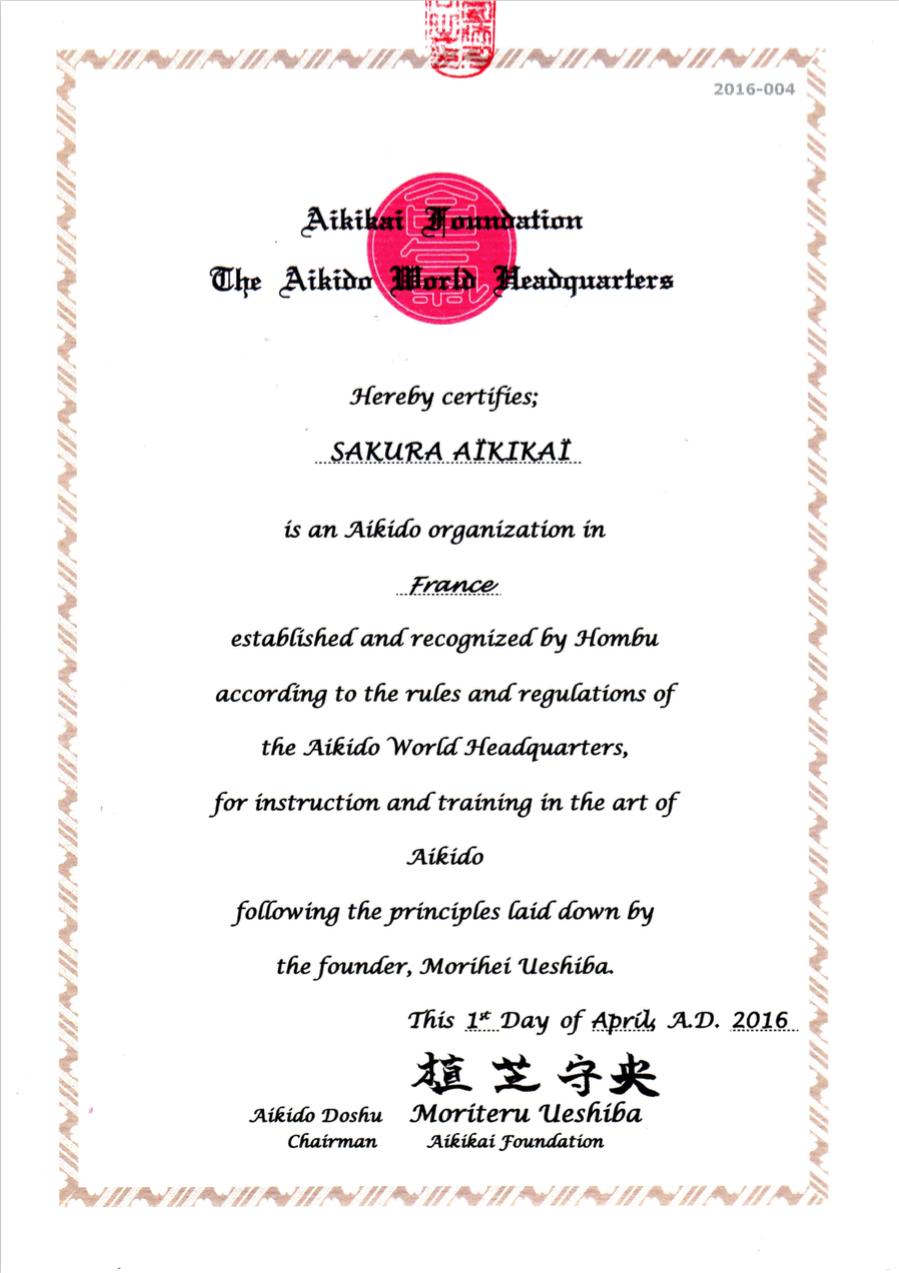 Sakura-Aikikai-certification